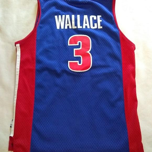 Reebok Detroit Pistons Ben Wallace jersey